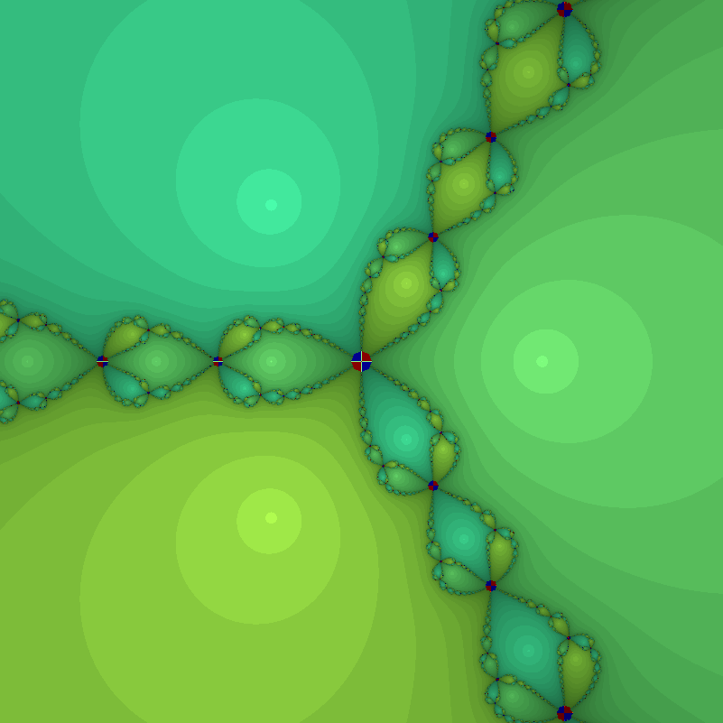 Newton fractal for F=[x^3-3xy^2-1, 3x^2y-y^3].