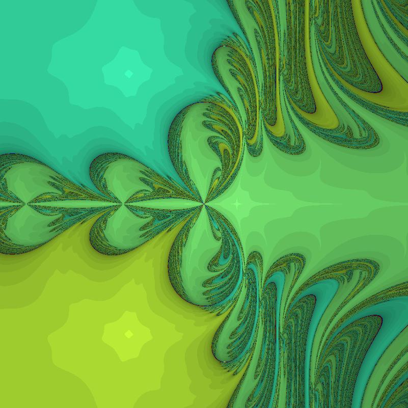 Perturbed z^3-1 Newton iteration, epsilon=3.