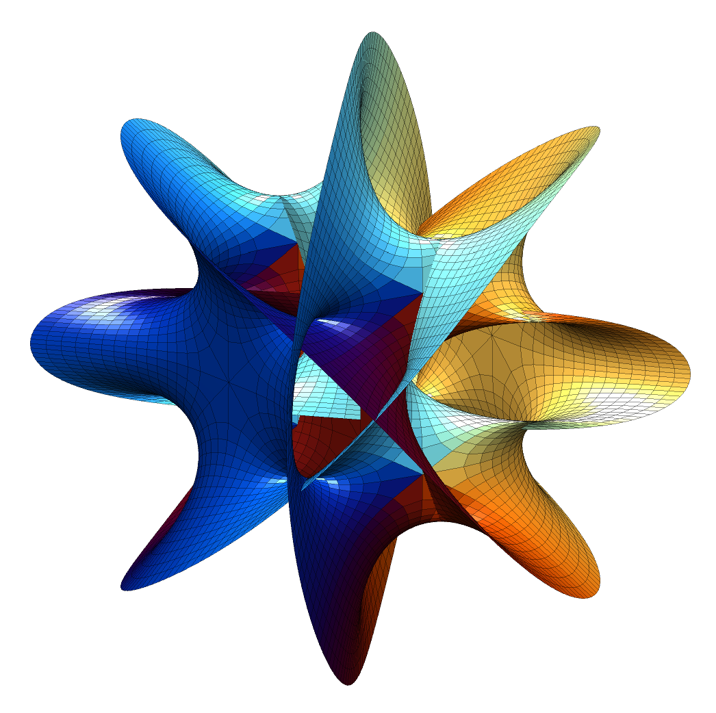 The Hanson n=4 Calabi-Yau manifold projected into 3-space.