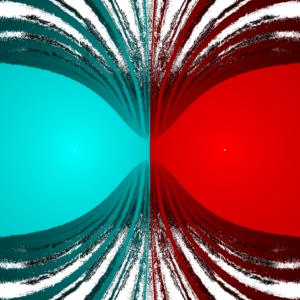 Gravity fractal for N=2.